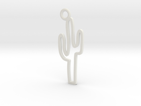 Cactus Charm! in White Natural Versatile Plastic