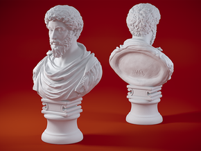 Marcus Aurelius 4 inches in White Natural Versatile Plastic: Small