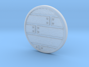 20mm Wood Grain Base in Smooth Fine Detail Plastic
