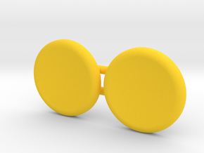 Magnetic spinner caps for standard spinners in Yellow Processed Versatile Plastic