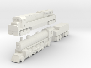Modified 1:700 Scale Based Engines in White Strong & Flexible