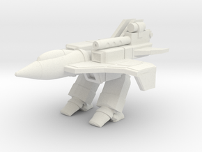 Omega Fighter HYBRID MODE in White Natural Versatile Plastic