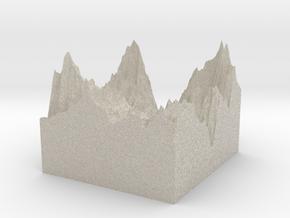 Model of Tignes / Val d'Isere in Sandstone