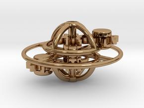 Saturn in Polished Brass (Interlocking Parts)
