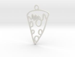 Pizza Charm! in White Natural Versatile Plastic