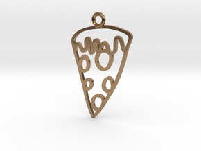 Pizza Charm! in Natural Brass
