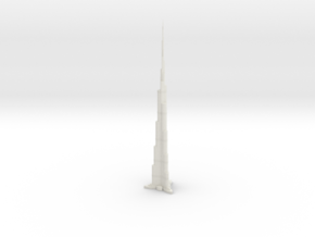 Burj Khalifa (1:1800) in White Natural Versatile Plastic