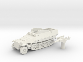 Sd.Kfz 251 vehicle (Germany) 1/100 in White Strong & Flexible