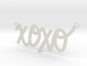 XOXO Necklace! in White Natural Versatile Plastic