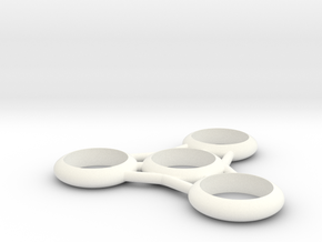 Fidget Spinner 1 in White Strong & Flexible Polished