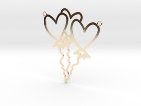 Heart Balloon Necklace! in 14K Yellow Gold