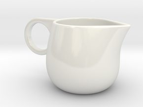 Creamer in Gloss White Porcelain