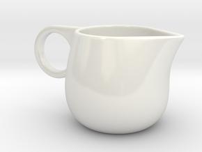 Creamer in Gloss White Porcelain