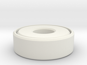 Bearing in White Natural Versatile Plastic