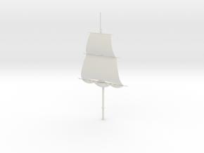 1/300 Frigate Foremast V1 in White Strong & Flexible