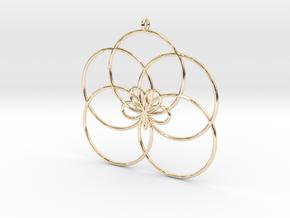 Cyclic-harmonic Pendant 1 in 14k Gold Plated