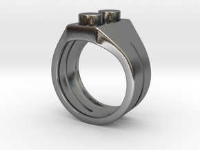 Brick Ring in Polished Silver: 7 / 54