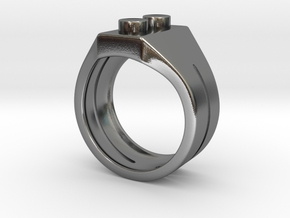 Brick Ring in Polished Silver: 11 / 64