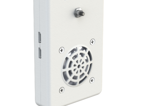 |pipe| connected doorbell: Casing Top in White Strong & Flexible