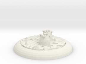 Alienbase 40mm Round in White Natural Versatile Plastic
