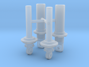 Shock Absorber V2 Pair 1/12 in Smooth Fine Detail Plastic
