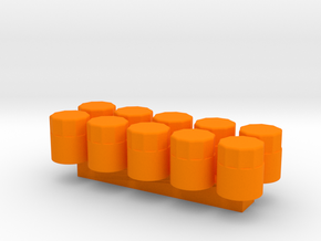 1/24 Scale Oil Filter (10 Pack) in Orange Strong & Flexible Polished