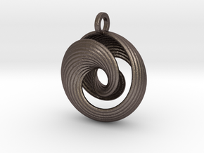 Mobius IV in Polished Bronzed Silver Steel