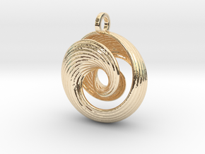 Mobius IV in 14k Gold Plated Brass