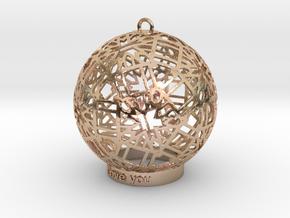 Modern Ornament in 14k Rose Gold