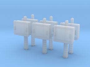 TJ-H04678x6 - Boitiers STM sur poteaux béton in Smooth Fine Detail Plastic