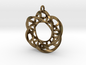 5,4 Torus Knot Ladder Pendant in Natural Bronze
