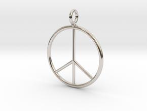 Peace symbol necklace in Platinum