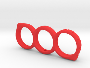 Small 73mm Fidget Spinner in Red Processed Versatile Plastic