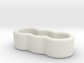 3 Wire Holder 4.5mm in White Natural Versatile Plastic