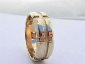 Mans Wedding Band   M-002 in 14K Yellow Gold