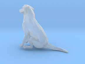 American Staffordshire Sitting in Smoothest Fine Detail Plastic: 1:64 - S