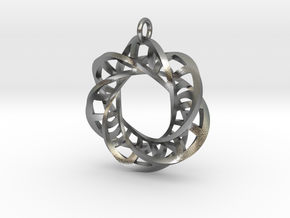 Statement Interlocking Trefoil Ladders Pendant in Natural Silver (Interlocking Parts)