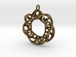 Statement Interlocking Trefoil Ladders Pendant in Polished Bronze (Interlocking Parts)