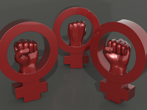 Women's rights symbol - BIG in Red Processed Versatile Plastic