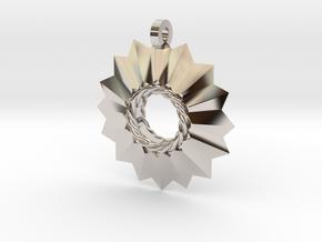 Pointed Pendant in Platinum