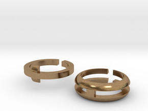Round two-part fidget ring in Natural Brass: 3 / 44