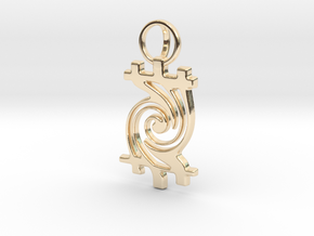 Timetwist - Pendant in 14k Gold Plated Brass