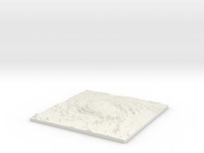 Customizable Space Diorama Base in White Natural Versatile Plastic