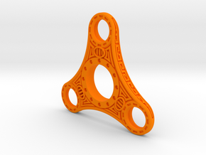 "Skyrim ""Dwemer"" style fidget spinner - Plastic in Orange Strong & Flexible Polished"