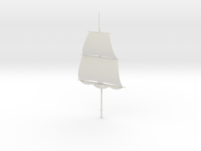 1/300 Frigate Mainmast V1 in White Strong & Flexible