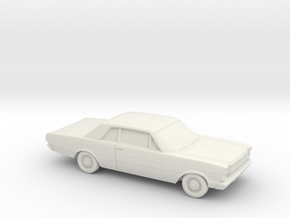 1/87 1966 Ford Galaxie 500  Custom 2 Door in White Natural Versatile Plastic