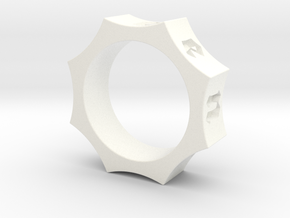Octagon Ensemble Ring in White Processed Versatile Plastic: 10.5 / 62.75