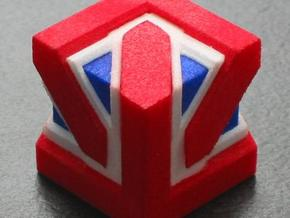 Union Jack Cube in White Strong & Flexible