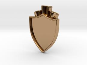 Plume Holder Camelot in Polished Brass