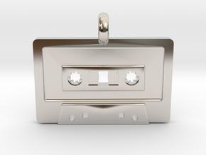 Cassette Tape Pendant in Platinum